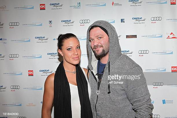 Missy Rothstein and Bam Margera attends Annual Charity Day Hosted By Cantor Fitzgerald And BGC Partners on September 11 2012 in New York United States