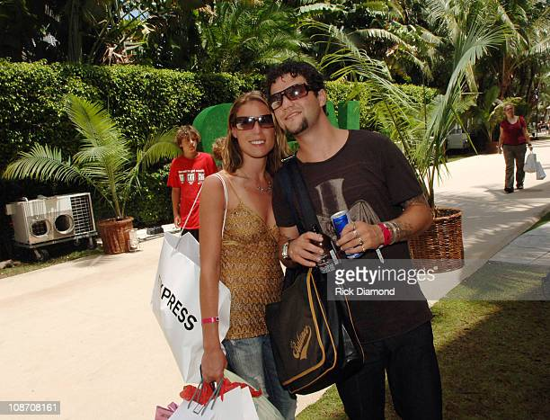 Missy Rothstein and Bam Margera during 2005 MTV VMA Victoria's Secret and EXPRESS Suites Day 3 at Sagamore Hotel in Miami Beach Florida United States