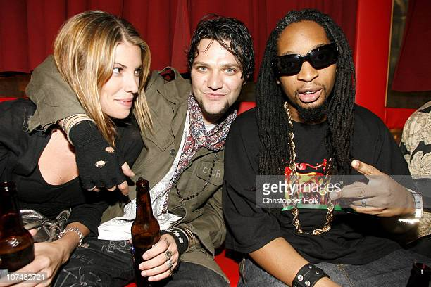 Missy Rothstein Bam Margera and Lil Jon during 2006 MTV Video Music Awards Oakley's PreVMA Bash at Snitch at Snitch in New York City New York United...