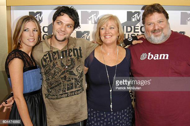 Missy Rothstein Bam Margera April Margera and Phil Margera attend 2006 MTV Video Music Awards at Radio City Music Hall on August 31 2006 in New York...