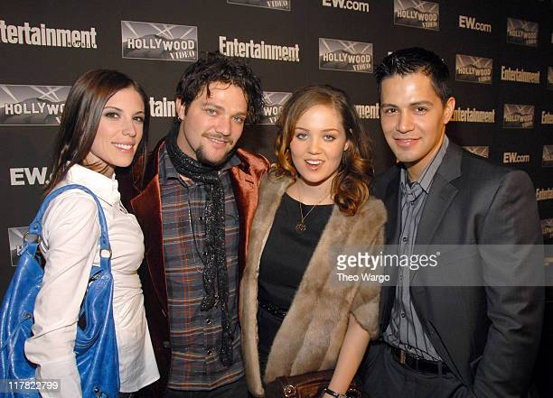 Missy Rothstein Bam Margera Erika Christensen and Jay Hernandez at Entertainment Weekly 13th Annual Academy Awards Viewing Party at Elaine's