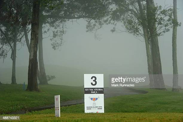 Mist and clouds delay the start of the Madeira Islands Open Portugal BPI at Club de Golf do Santo da Serra on May 8 2014 in Funchal Madeira Portugal