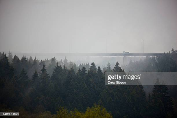 Mist and fog rises from the Ardenns forest near the circuit during the 2012 FIA World Endurance Championship - 6 Hours Of Spa Francorchamps on May 5,...