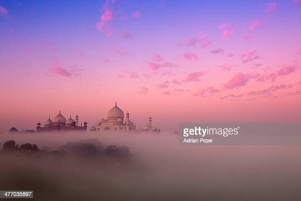 Mist and Taj Mahal