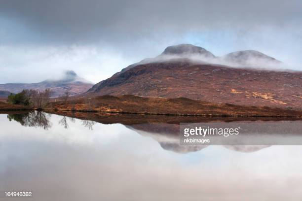Mist covered mountains in the Highlands Scotland