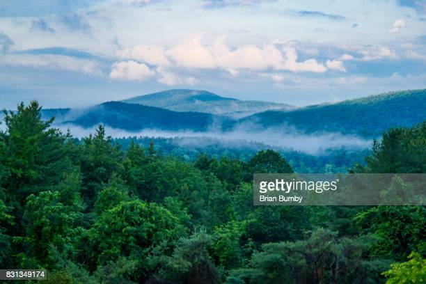 mist on mountains - massachusetts stock pictures, royalty-free photos & images