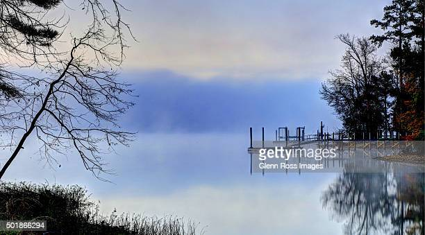 mist on the lake - columbia south carolina stock pictures, royalty-free photos & images