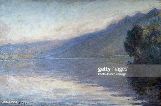Mist on the Seine at Port-Villez. Painting by Claude Monet , 1894. 0,66 x 1,05 m. Beaux-Arts Museum, Rouen, France