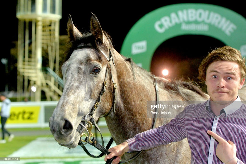 A Mist Opportunity after winning the Procon Developments F&M BM64 Handicap at Cranbourne Racecourse on October 13, 2017 in Cranbourne, Australia.