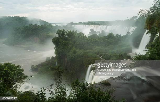 Mist over Iguazu falls, Iguazu National Park, Argentina