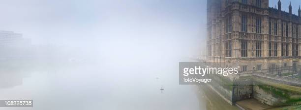 Mist Over River Thames at Westminister