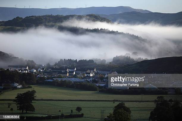 Mist shrouds the the BrynyGog estate as the search for missing fiveyearold April Jones continues on October 7 2012 in Machynlleth Wales Hundreds of...