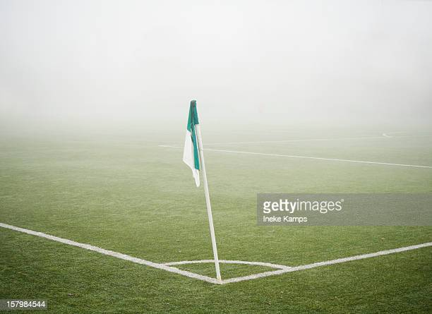Mist soccer field