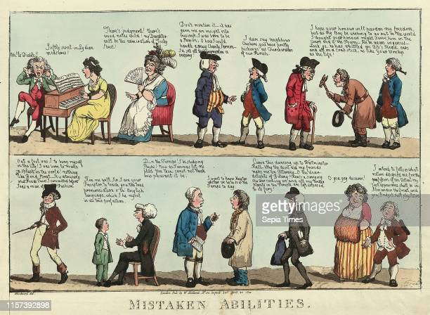 Mistaken abilities Woodward G M approximately 17601809 engraving 1800 several individuals each believing they are better suited to a particular...