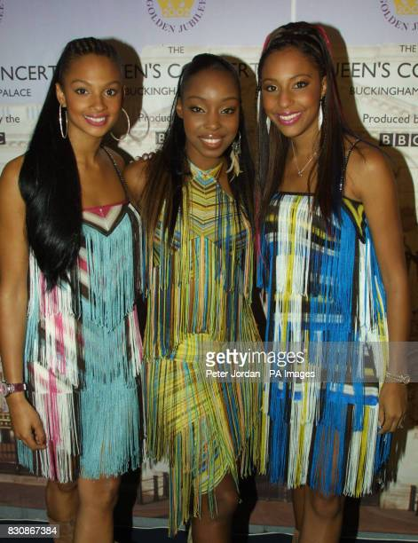 Misteeq Alesha Sabrina and SuElisebackstage in the gardens of Buckingham Palace for the second concert to commemorate the Golden Jubilee of Queen...