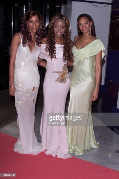 MisTeeq arrive at the 2001 MOBO Awards at Docklands arena in London on October 4 2001
