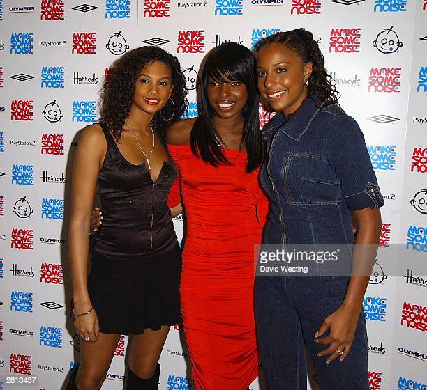 Misteeq attend the Make Some Noise children's concert at Grosvenor House on December 14 2003 in London