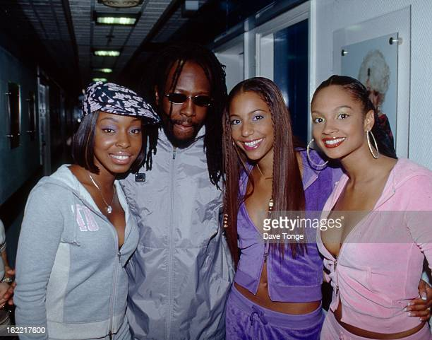 MisTeeq backstage with Wyclef Jean at a TV show London circa 2002 LR Sabrina Washington Wyclef Jean SuElise Nash and Alesha Dixon