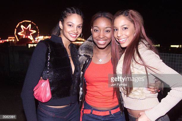 Misteeq members Alesha Dixon Sabrina Washington and SuElise Nash attend the Capital FM Firework display at Chrystal Palace on November 3 2002 in...