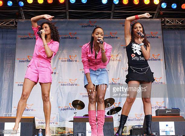 Misteeq perform at Southern FM's Party In The Park 2003 at Preston Park on June 22 2003 in Brighton England