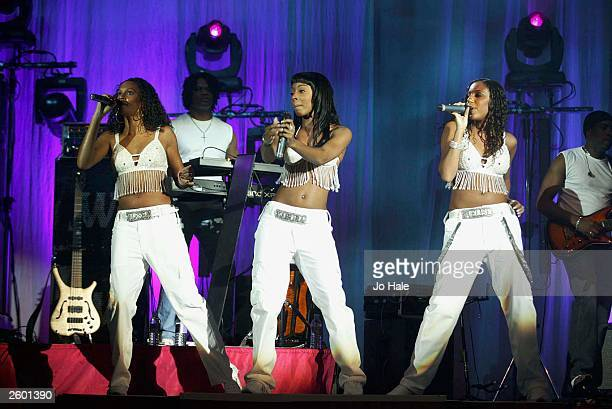 Misteeq perform live on stage at the Hammersmith Apollo on October 15 2003 in London