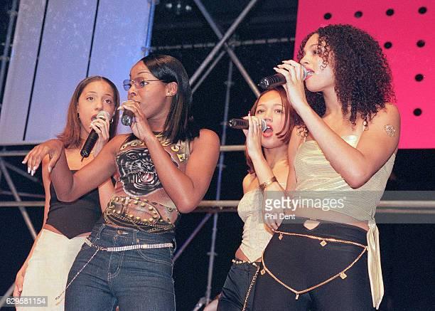 MisTeeq perform on stage Birmingham 2000 Line up includes Sabrina Washington Alesha Dixon SuElise Nash Zena McNally