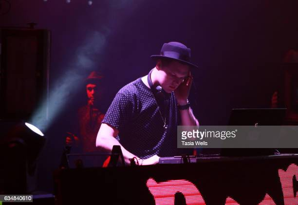 Mister Anderson performs onstage at the Rock Your Hair presents Valentine's Rocks at The Avalon Hotel on February 11 2017 in Los Angeles California