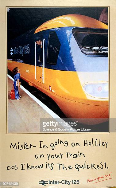 Mister - Im Going on Holiday on your train cos I know it's the quickest', 1978. With clear references to the 1932 LNER poster, and the 1936 Southern...