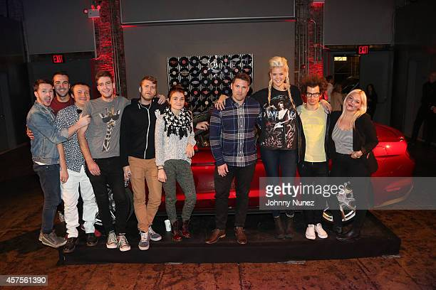 Misterwives, Matt Watts Director of Music and Marketing, Hotels and Casinos at Hard Rock International , Betty Who, ASTR and Elle King pose in front...