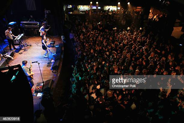 MisterWives performs onstage during the MTV Artists to Watch at House of Blues Sunset Strip on February 5 2015 in West Hollywood California