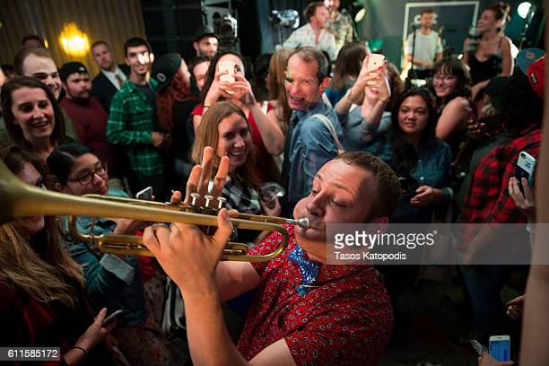 MisterWives preforms at the SpringHill Suites by Marriott Kicks Off Art of Local Event in Chicago on September 29 2016 in Chicago Illinois