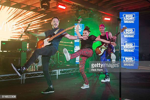 MisterWives take the stage at the Bud Light Factory during the Bud Light Music Showcase on March 18, 2016 in Austin, Texas. Bud Light Americas most...