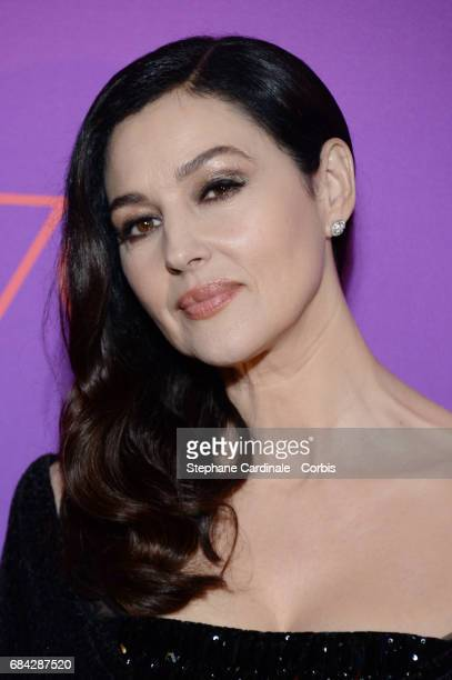 Mistress Of Ceremonies Monica Bellucci attends the Opening Gala dinner during the 70th annual Cannes Film Festival at Palais des Festivals on May 17...