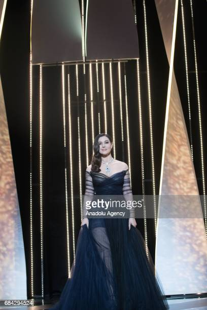 Mistress of Ceremony Italian actress Monica Bellucci attends during the Opening Ceremony of the 70th annual Cannes Film Festival in Cannes France on...
