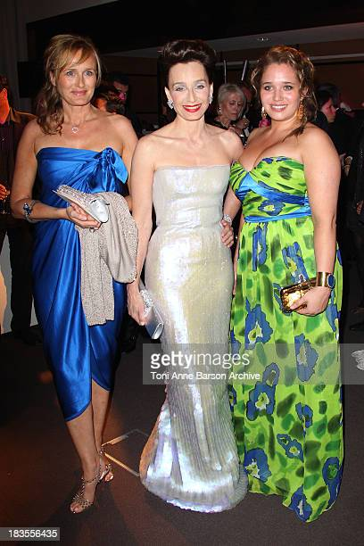 Mistress of Ceremony Kristin Scott Thomas and Hannah Olivennes attend the Opening Night Dinner at the Hotel Majestic during the 63rd Annual...