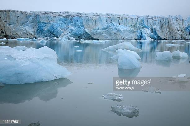 Misty Arctic Glacier