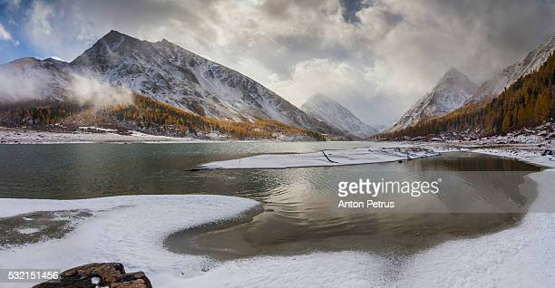misty autumn in the mountains - summits russia 2015 stock pictures, royalty-free photos & images