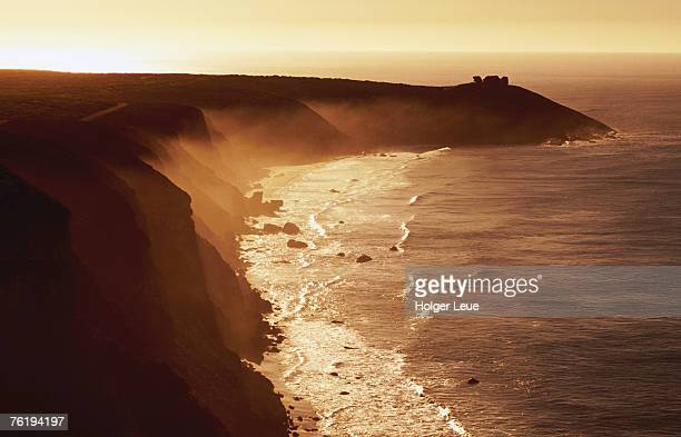 misty coastline, sunrise, kangaroo island, south australia, australia, australasia - south australia stock pictures, royalty-free photos & images