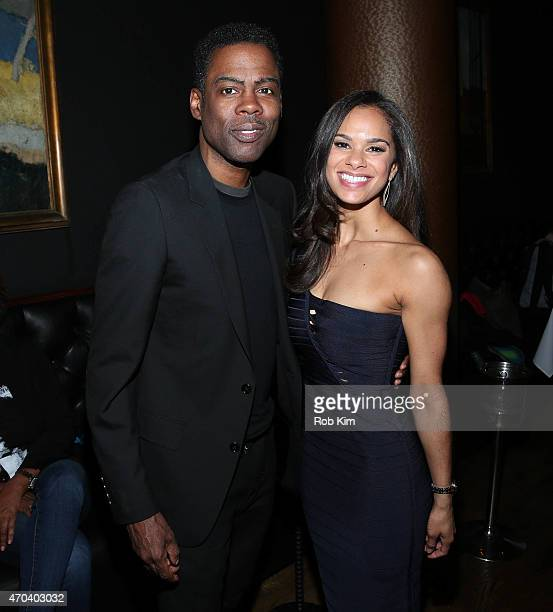 Misty Copeland and Chris Rock attend 2015 Tribeca Film Festival After Party for A Ballerina's Tale sponsored by Under Armour at White Street...