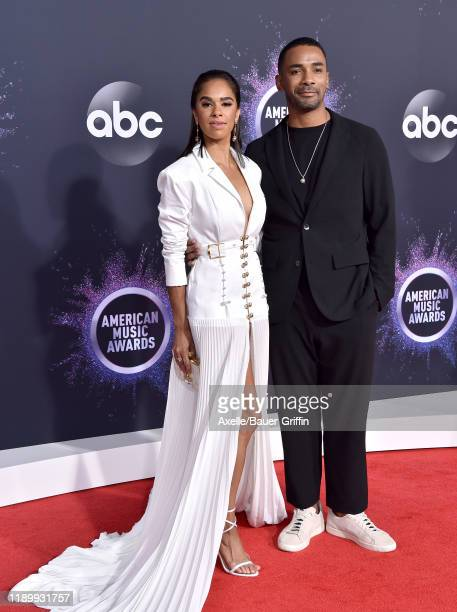Misty Copeland and Craig Hall attend the 2019 American Music Awards at Microsoft Theater on November 24, 2019 in Los Angeles, California.
