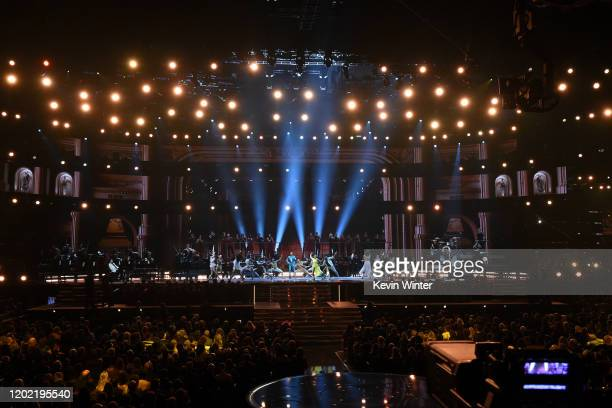 Misty Copeland and dancers perform onstage during the 62nd Annual GRAMMY Awards at STAPLES Center on January 26 2020 in Los Angeles California