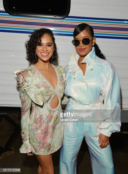 Misty Copeland and HER attend the 62nd Annual GRAMMY Awards Let's Go Crazy The GRAMMY Salute To Prince on January 28 2020 in Los Angeles California