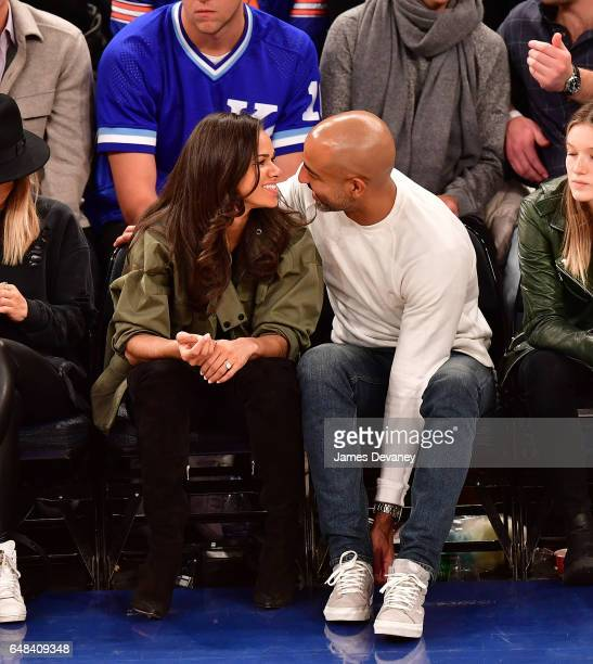 Misty Copeland and Olu Evans attend Golden State Warriors Vs New York Knicks game at Madison Square Garden on March 5 2017 in New York City