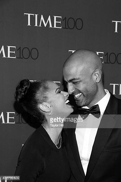 Misty Copeland and Olu Evans attend the 2015 Time 100 Gala at Frederick P Rose Hall Jazz at Lincoln Center on April 21 2015 in New York City