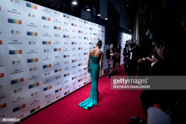 Misty Copeland arrives for the 40th Annual Kennedy Center Honors in Washington DC on December 3 2017 / AFP PHOTO / Brendan Smialowski