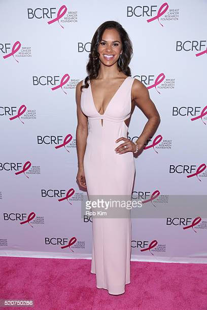 Misty Copeland attends 2016 Breast Cancer Research Foundation Hot Pink Party at The Waldorf=Astoria on April 12 2016 in New York City