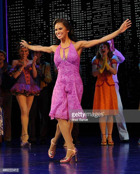 Misty Copeland onstage during her debut performance in Broadway's 'On The Town' at the Lyric Theatre on August 25 2015 in New York City