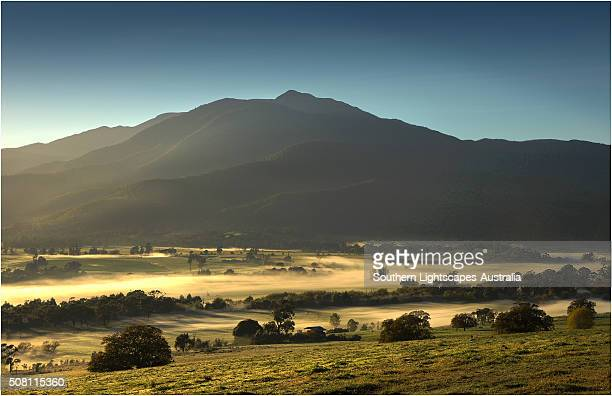 Misty dawn, Kiewa valley, alpine area of Victoria, Australia