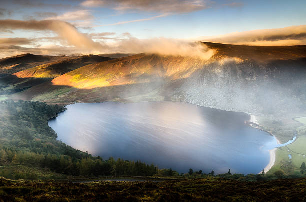 Misty Dawn on Lough Tay