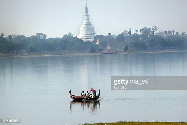 A misty evening at Amarapura  lake, Mandalay